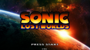 Sonic Lost World - Pre-Announcement Title Screen by Mauritaly