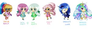MLP anime chibi's by nightmaresky
