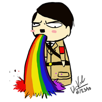 Rainbow Puke Hitler by ToxicKrieg