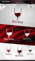 Red wine logo by gomez-design