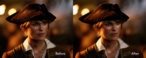 Elizabeth Swann Before and After by iTomix