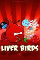 Angry Liver Birds Mobile Wallpaper by kitster29