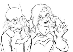 Batgirl and Misfit. Work in progress by JohnYandall