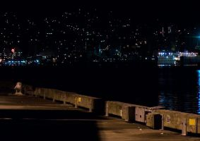 Before Dawn on the Docks by clickynicky