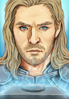 Thor - God of Thunder by Kumagorochan