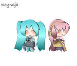 Miku and Luka by KoyMija