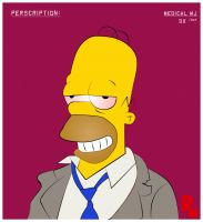 .stoned Homer by rioc