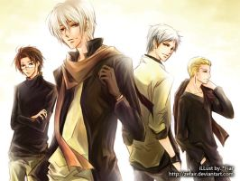 APH :: Boys band by zefiar