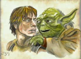 Luke and Yoda by Gremmy-X
