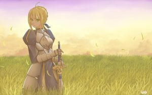 Saber, King of Knights by SpicaHime