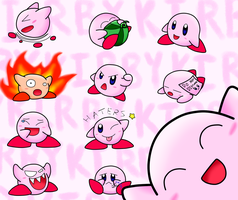 Kirby Overload! by SilverBlue-Neko