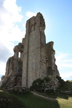 Corfe castle tower by CAStock