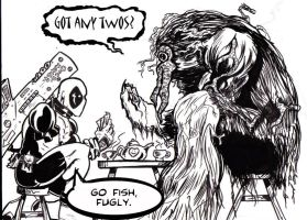 Deadpool+Man-Thing Tea Party by JamesRiot