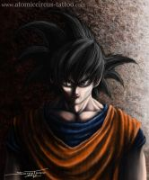 Songoku from Dragonball by AtomiccircuS