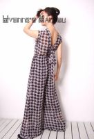 Black White Checked Jumpsuit 5 by yystudio