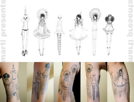 ..dollfie tattoo.. by ball-jointed-Alice