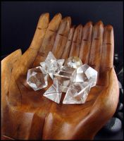 Quartz Crystal - Platonic Solid Stones by andromeda