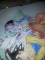wip dragon ball colored by Dream-Catcher-88