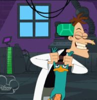 Dr. Doofenshmirtz and Perry Dance (animated) by jaycasey