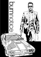 Burn Notice cover WIP by StevenWilcox