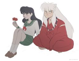 Inuyasha and Kagome.. by DaiskiAnimeJ