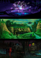 SCI FI WORLD by cameronscifiart