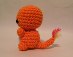 Charmander fire lizard crochet pokemon amigurumi by StitchedLoveCrochet