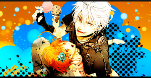 Halloween Orange and Blue Tag by amielnic