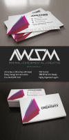 Clean Bold Business Card by KaixerGroup