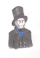 Cartoony Javert by MdeLucena