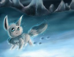 The little and shiny frozen Eevee by PKManthro