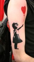 banksy tattoo by ubertattooist