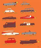 Famous Cars by Three-Ring-Circus