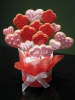 Valentine's Day Cookie Bouquet by Purplepugz
