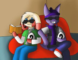 Zoology Final: Researching while looking cool by YingYang-girl