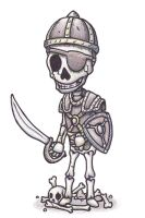 Skeleton Soldier by Meoxxam