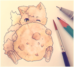 Cookie with a cookie by chocowhiskers