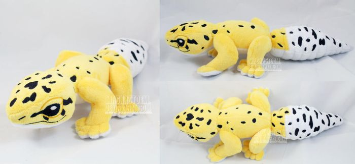 Benan the leopard gecko by MagnaStorm