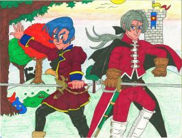 Cash and Angelo - Dragon Quest VIII by BardofMaple