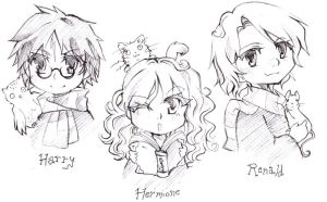 HP doodles by Goku-chan