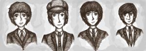 The Beatles comic style-y by Ob-LaDi