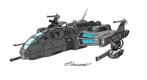 Gunship by KuroiKitsune88