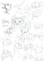 HTTYD sketches by AmmyWolf95
