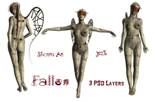 Fallen PSD Layers by WitsResources