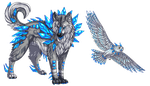 Elemental pixel designs - Ice (ONE OPEN!) by DodoIcons