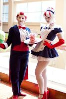 Peppermint Butler and Maid by Hopie-chan
