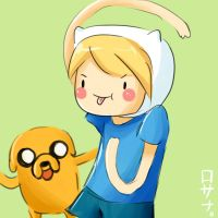 Finn and Jake by Rosana127