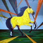 Big Yellow Horse Painting