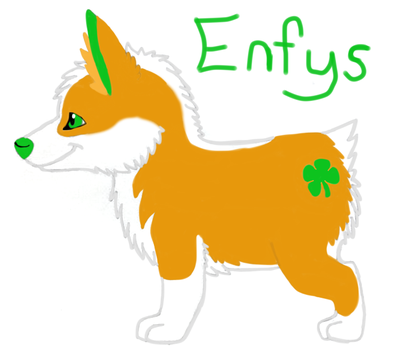 Enfys the Corgi, my second fursona! by BloodWolf93