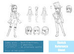 Sketch Reference Sheet Example by Kimidoll